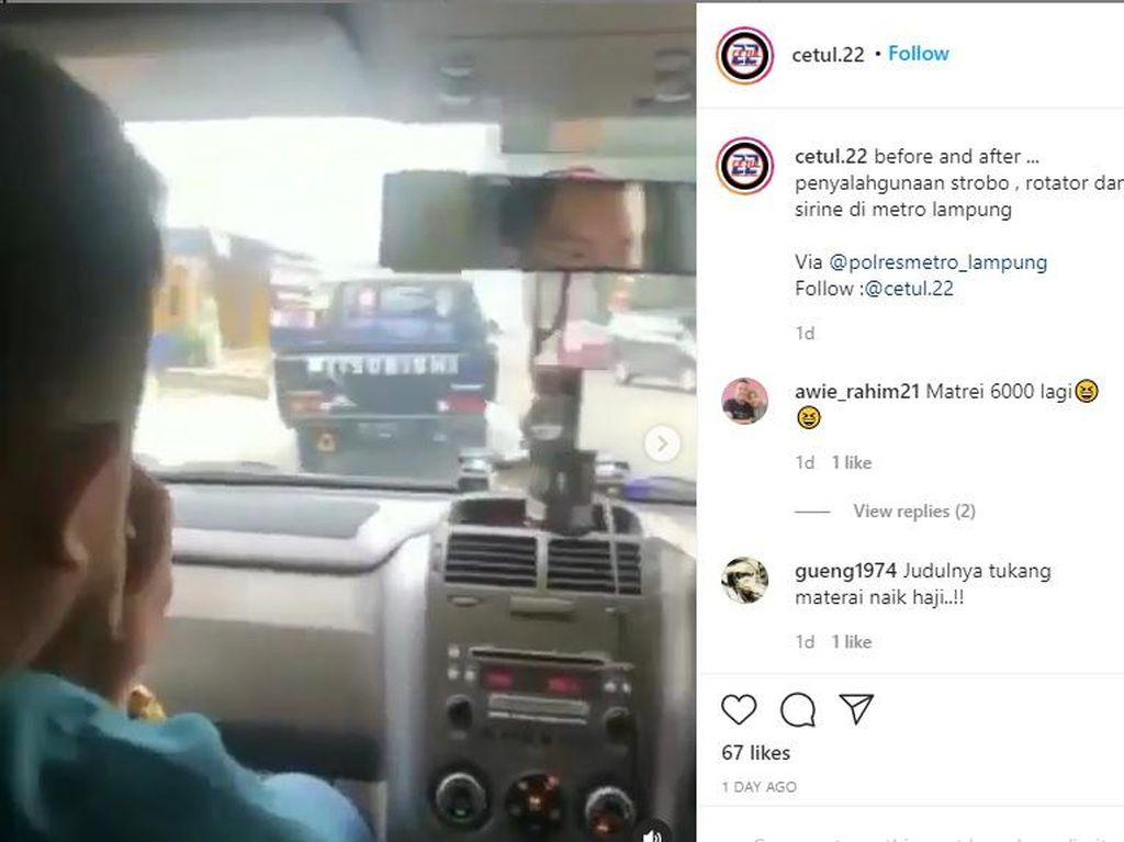 Nekat! Pemobil Pakai Strobo Ngaku Anggota Reskrim, Minta Jalan Pula