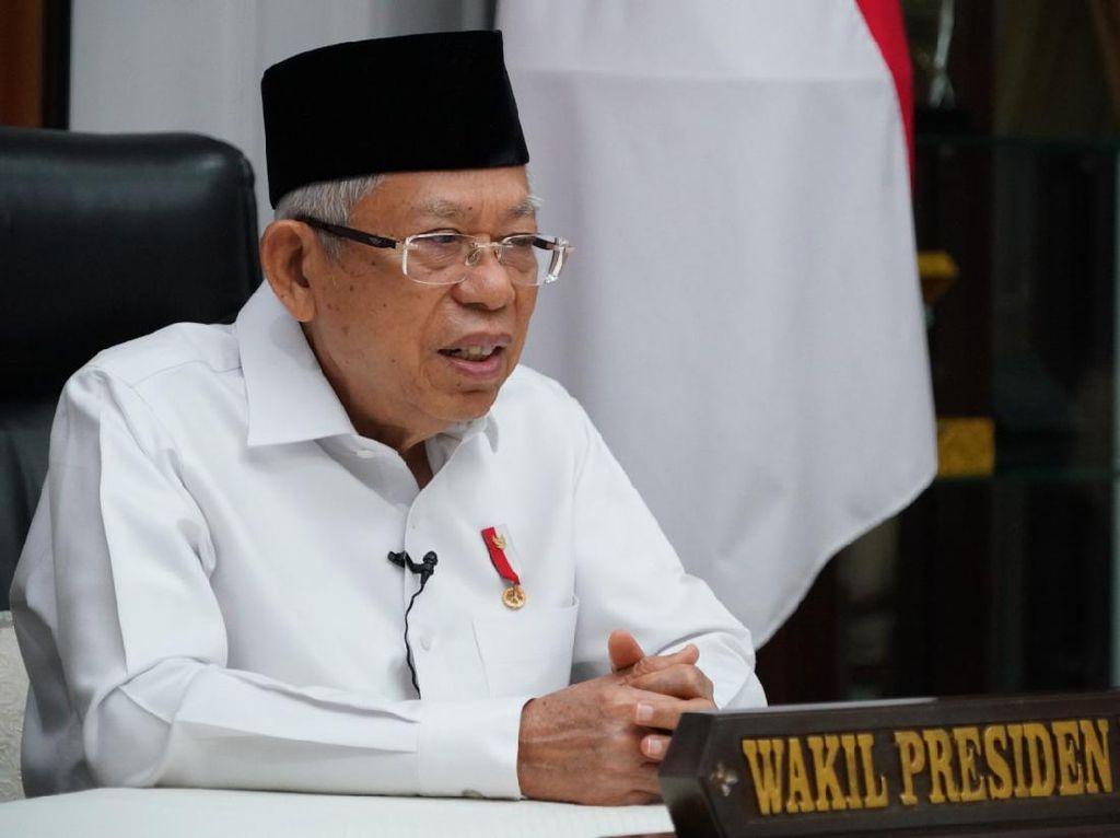Maruf Amin Minta Pengetatan Aturan Penambangan Liar di Daerah Rawan Bencana