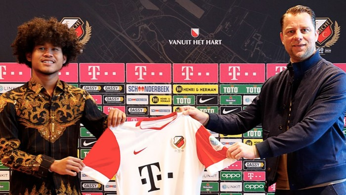 Amiruddin Bagus Kahfi Alfikri diperkenalkan FC Utrecht.