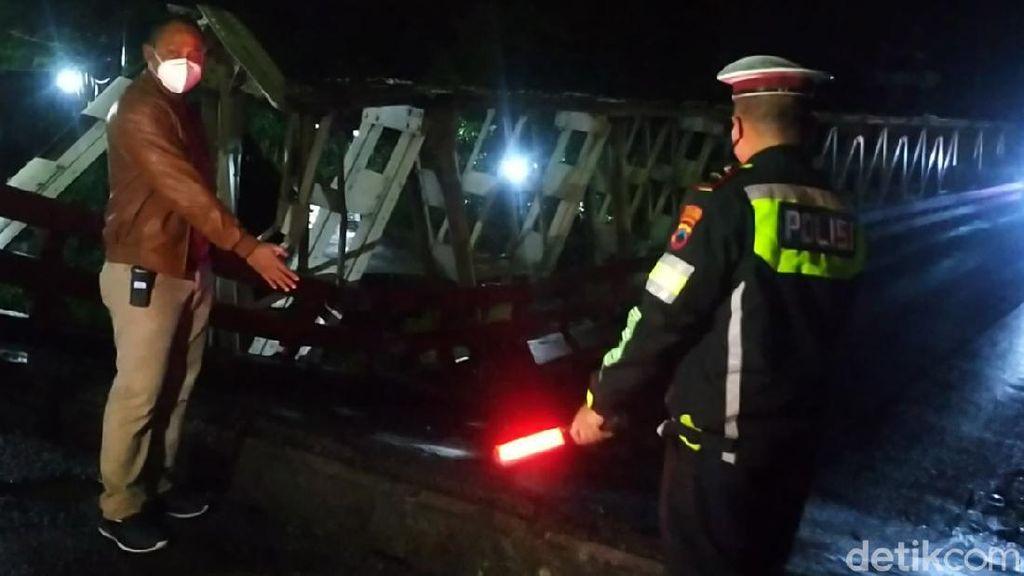 Penampakan Jembatan Jalur Pantura di Pekalongan yang Ambles