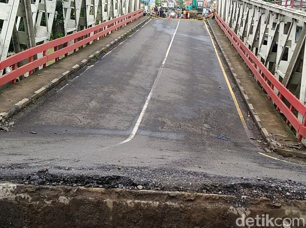 Kondisi Terkini Jembatan Pantura di Pekalongan yang Ambles