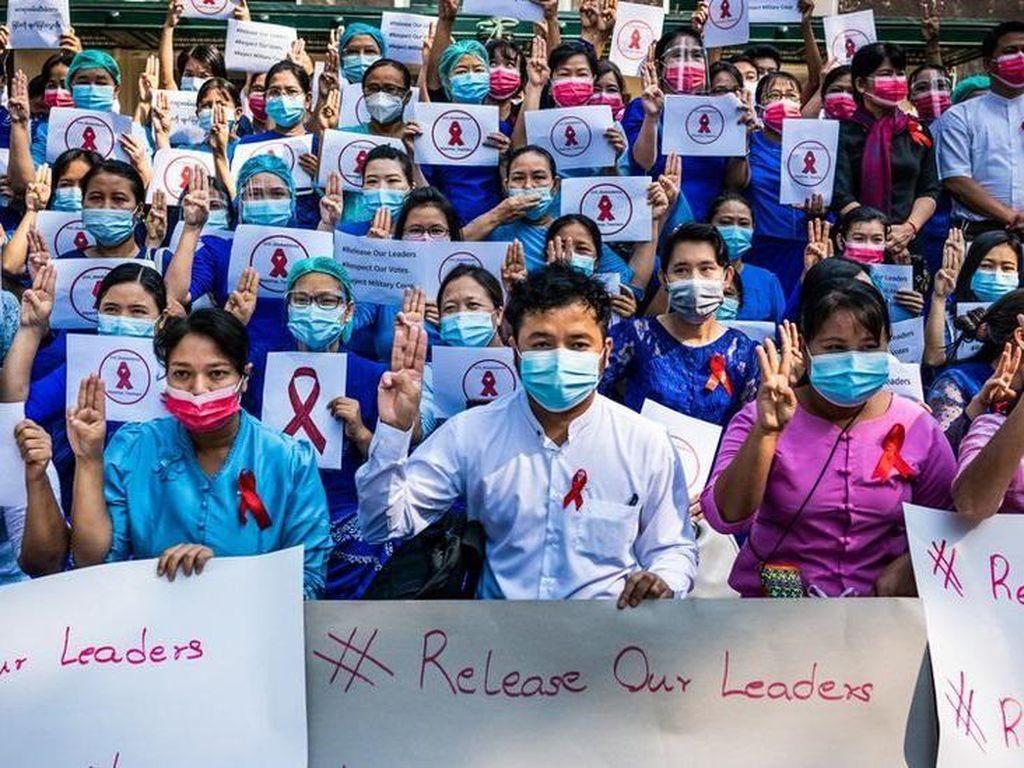 Militer Myanmar Dakwa 19 Dokter yang Dituduh Terlibat Gerakan Antikudeta