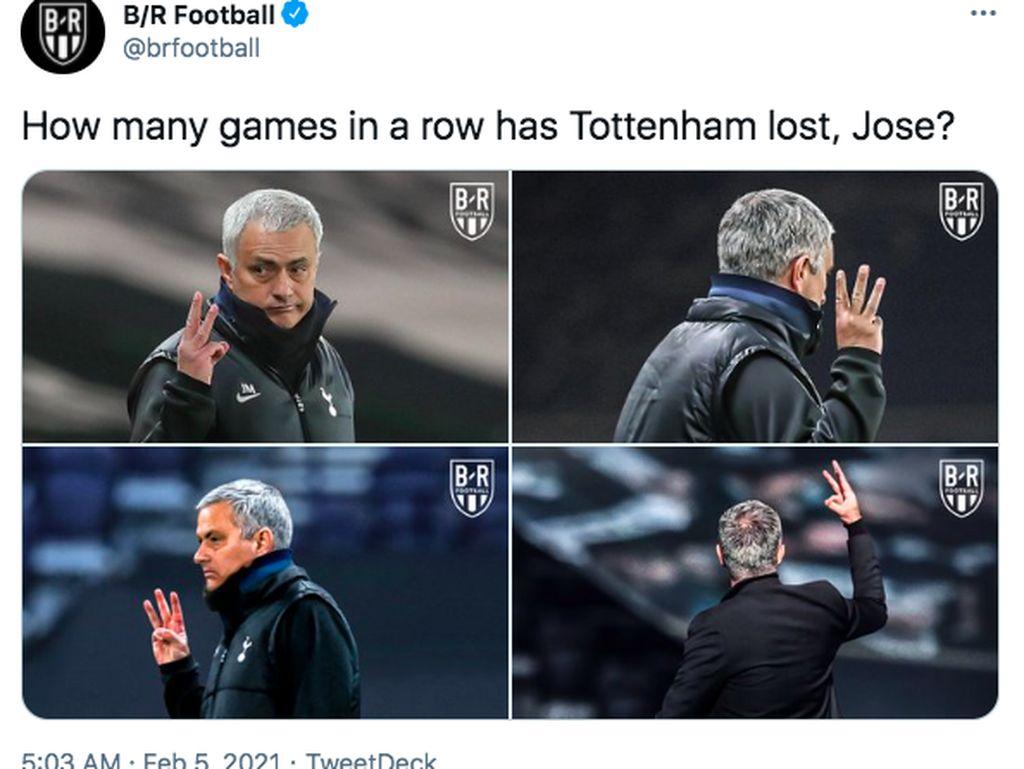 Meme Spurs Dilibas Chelsea, Mourinho Jadi Lakon