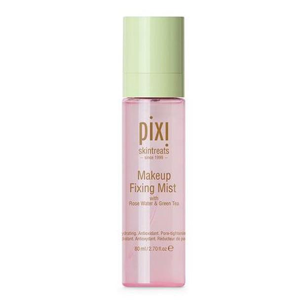 Pixi Makeup Fixing Mist memperpanjang pemakaian make up dan mencegahnya bergerak, pudar dan mengendap menjadi garis-garis halus atau pori-pori.