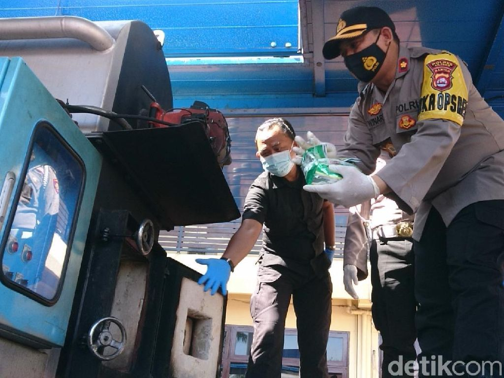 Polres Cilegon Musnahkan Sabu Senilai Rp 13 Miliar Milik 2 Tersangka