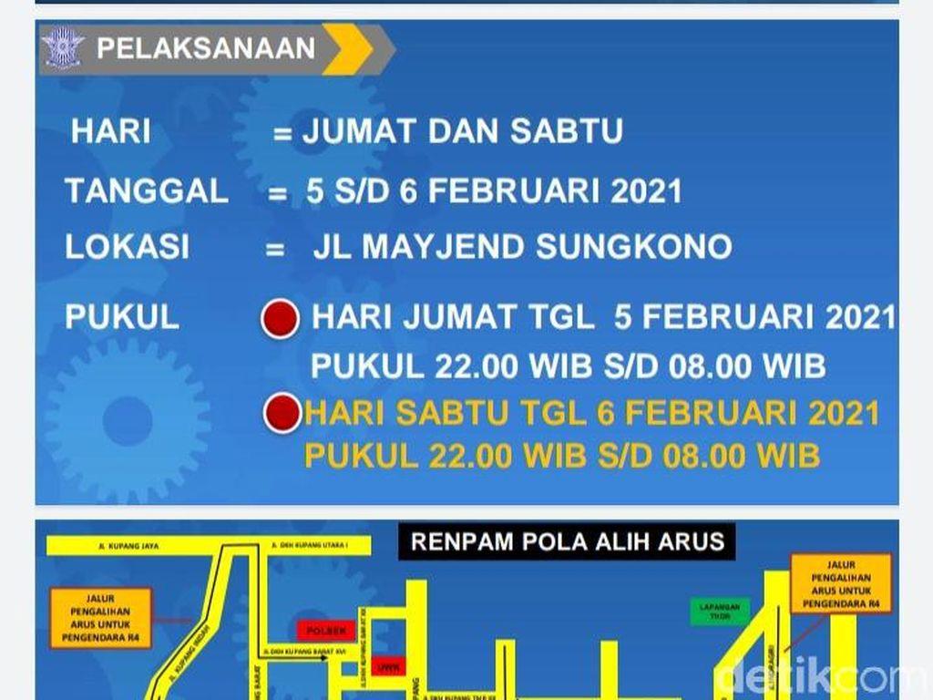 PPKM Surabaya, Malam Ini Jalan Mayjen Sungkono Ditutup