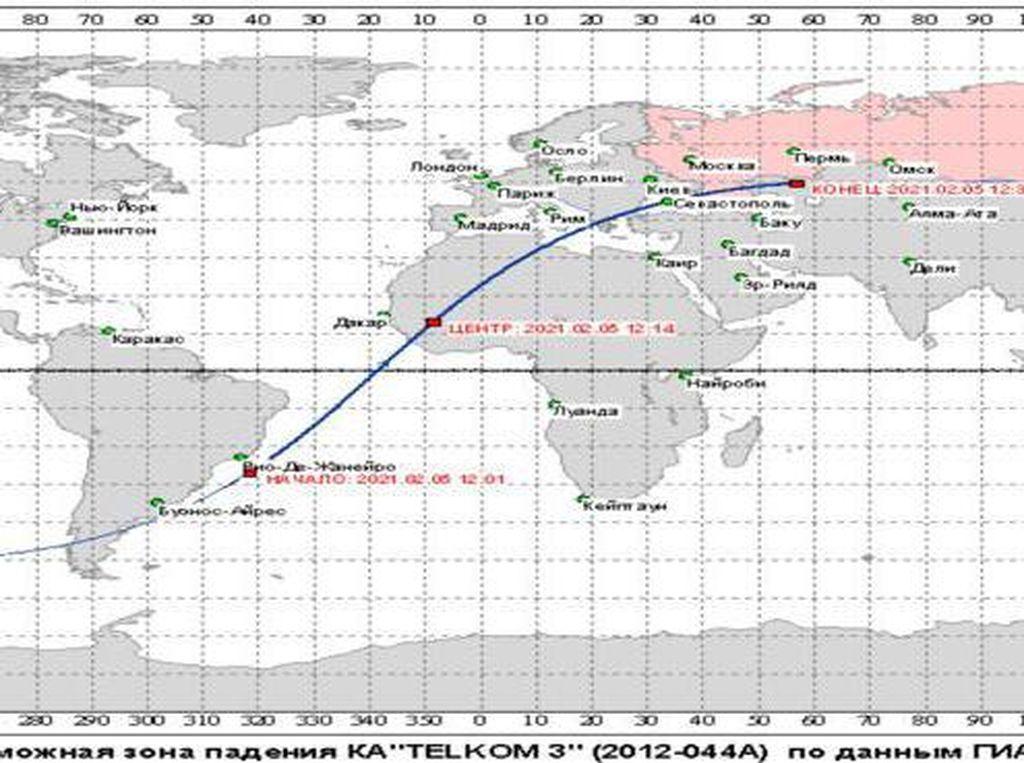 Potensi Satelit Telkom-3 Timpa Rumah Warga, Ini Kata Lapan