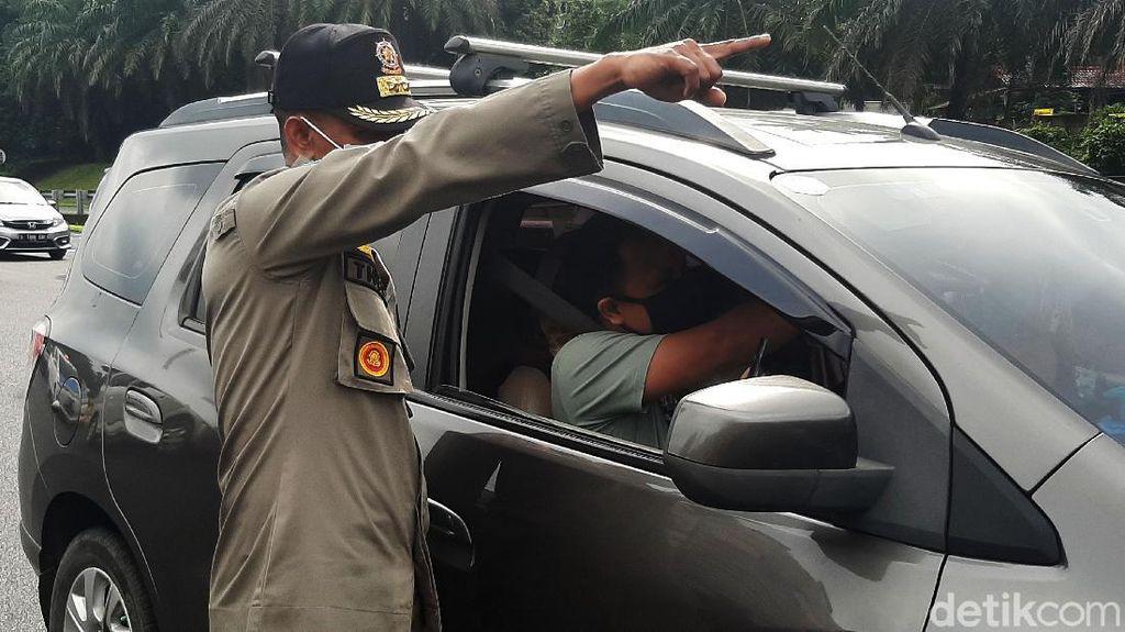 Gage Diterapkan di Bogor, Kendaraan Bernopol Ganjil Diputarbalik