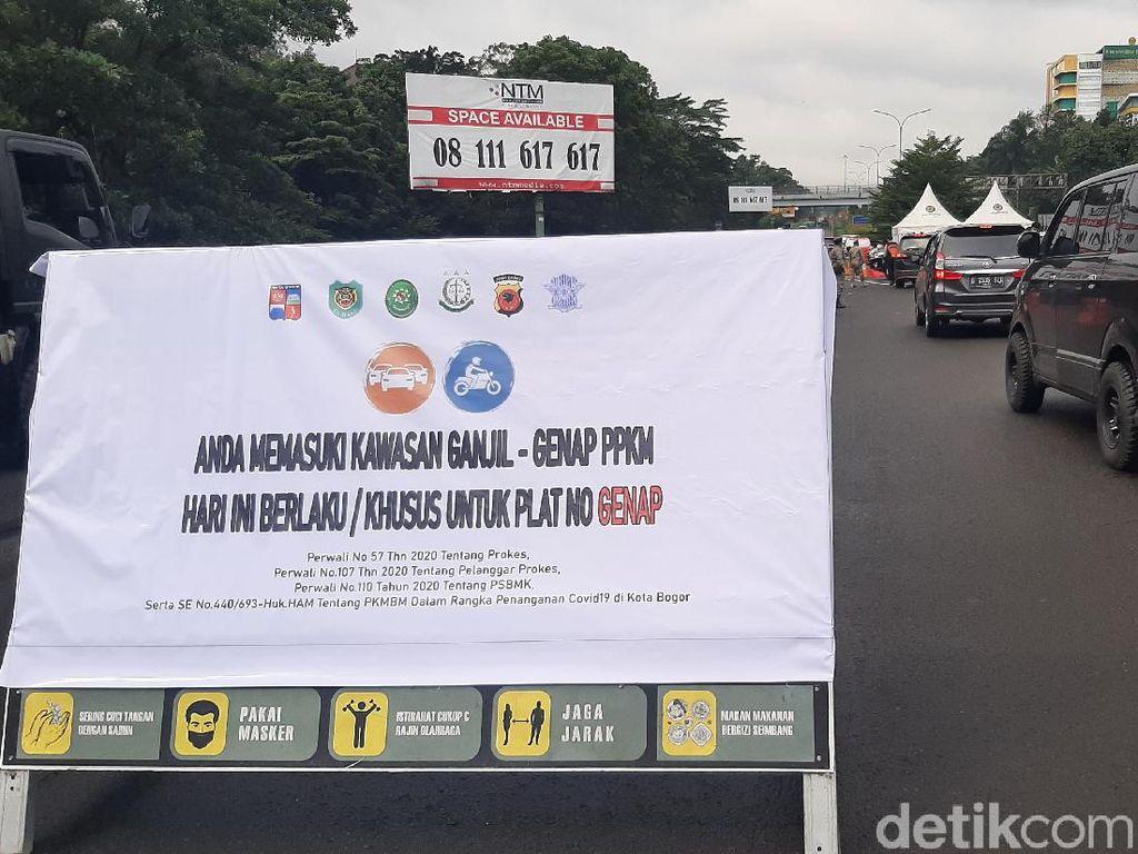 Hari Pertama Ganjil Genap di Bogor, 5.000 Lebih Kendaraan Diputar Balik