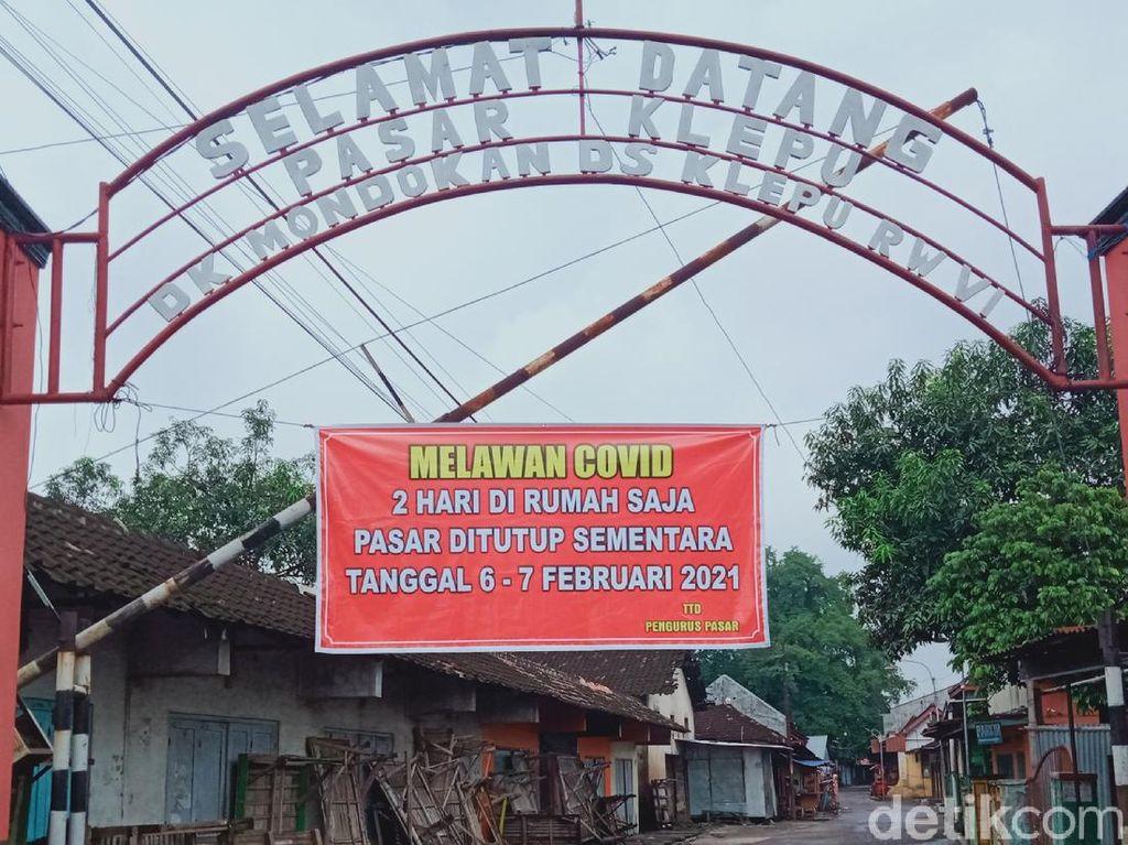 Pasar Klepu, Satu-satunya Pasar di Klaten yang Tutup Jateng di Rumah Saja