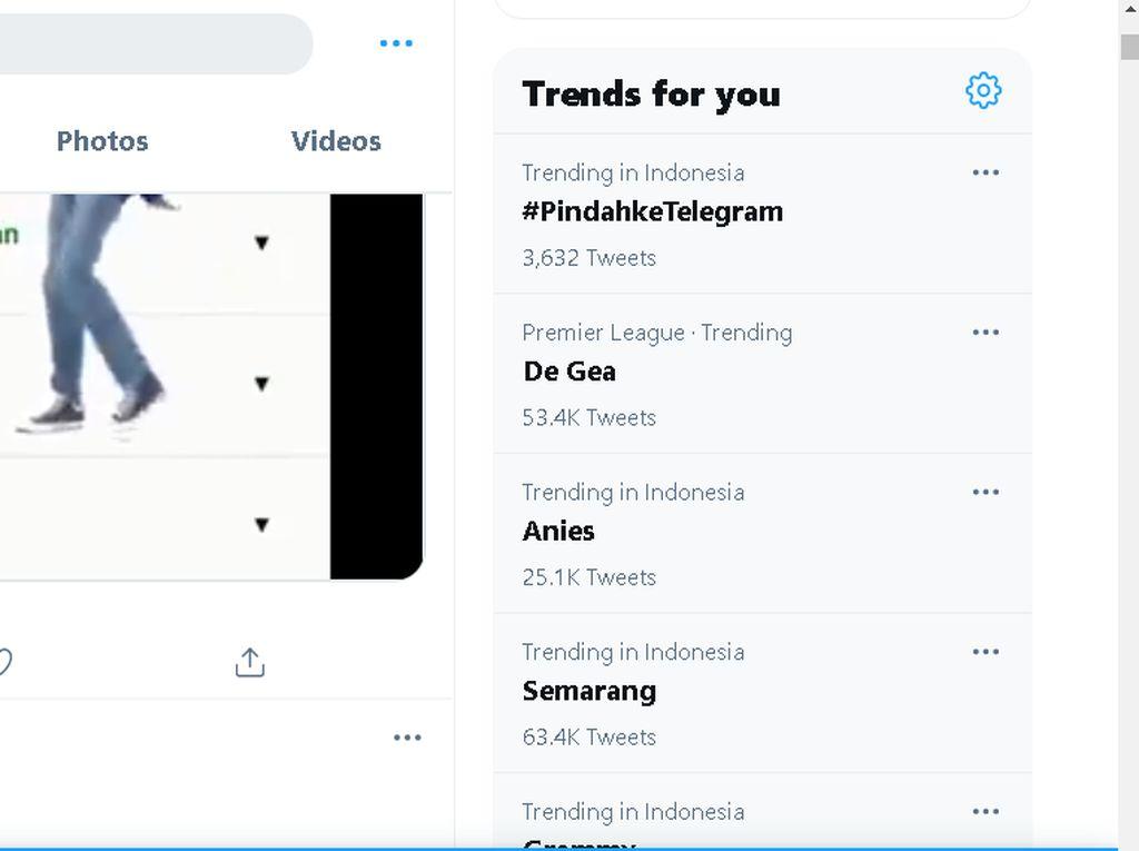 Ajakan #PindahkeTelegram Trending Lagi di Twitter