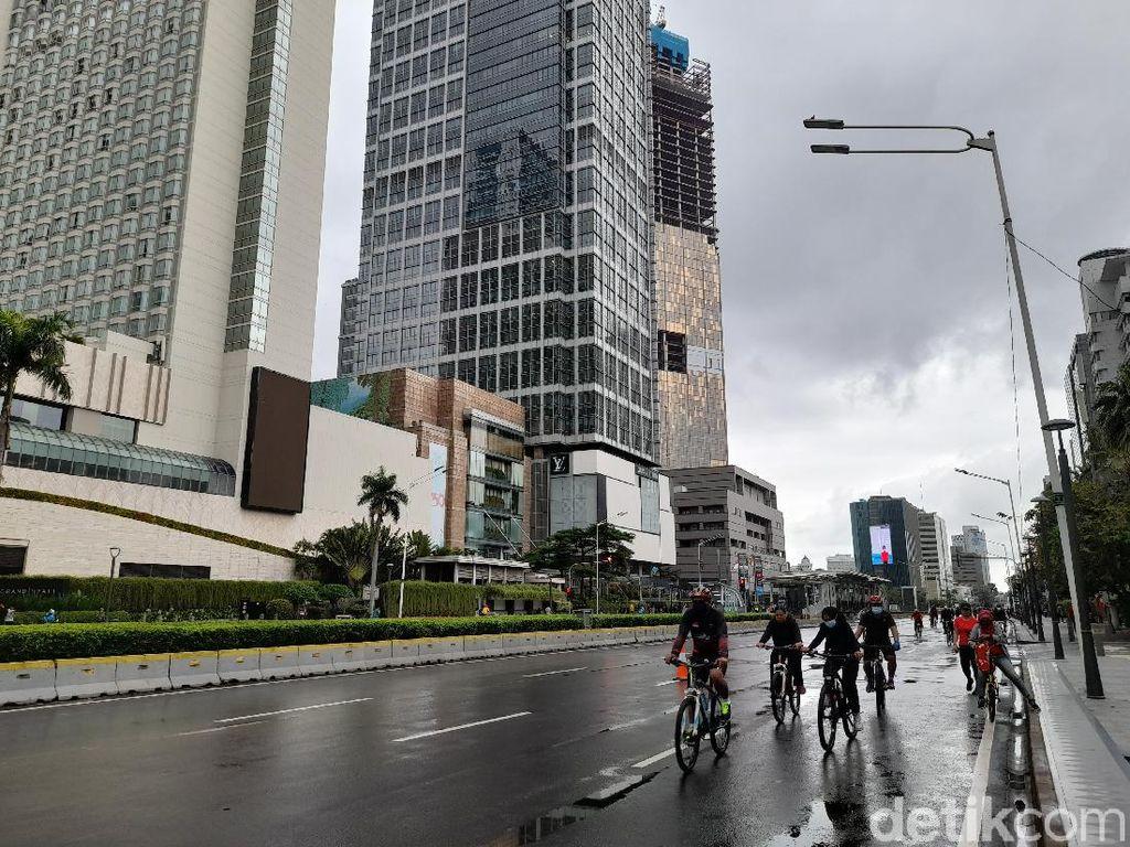 Segera Dipermanenkan, Begini Situasi Jalur Sepeda Sudirman-Thamrin Pagi Ini