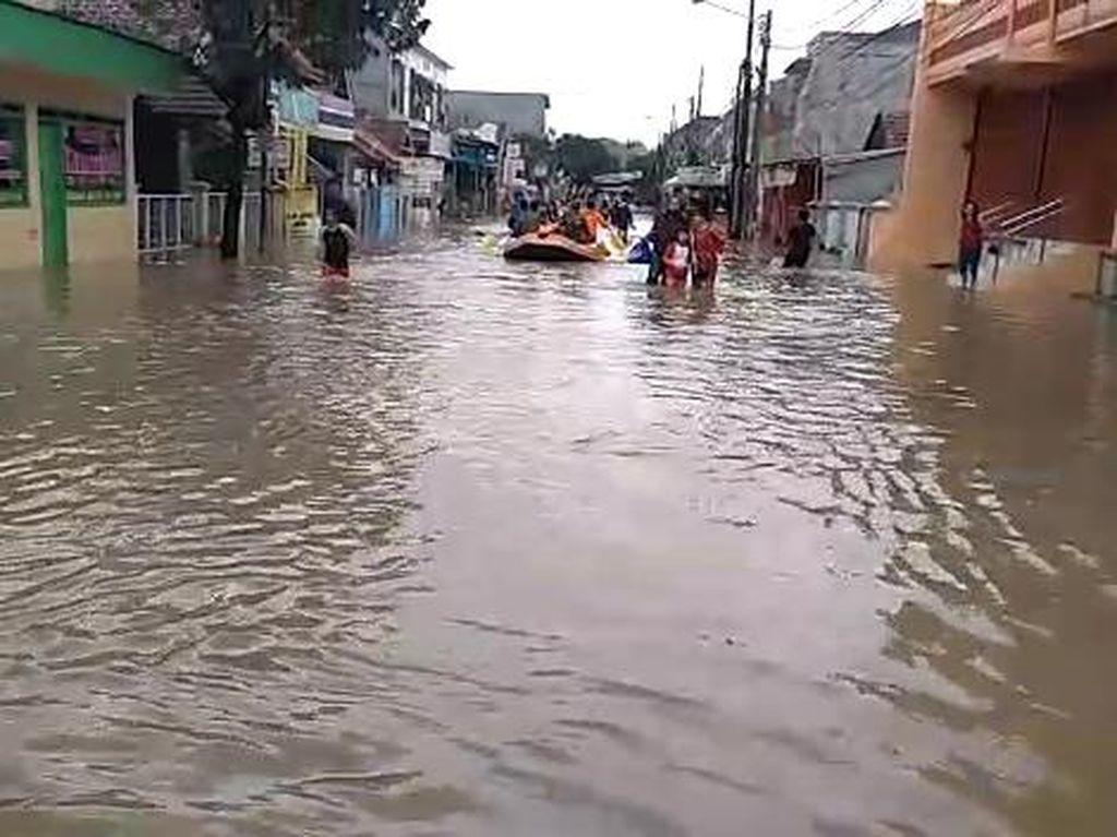 Banjir Bogor, Ratusan Rumah di Vila Nusa Indah Tergenang