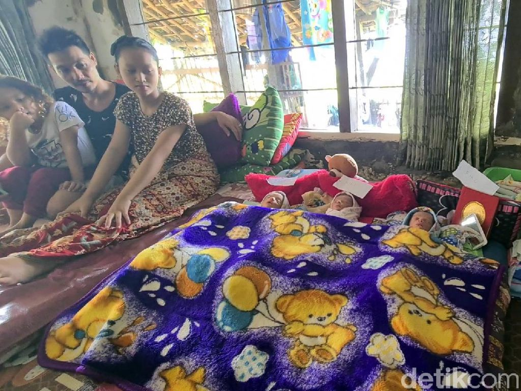 Pilu 3 Bayi Kembar Sukabumi Ditinggal Ibunya yang Dirawat di RS