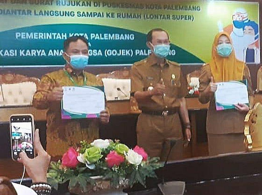 Dinkes Palembang Gandeng Gojek Kirim Obat & Surat Rujukan ke Rumah Pasien