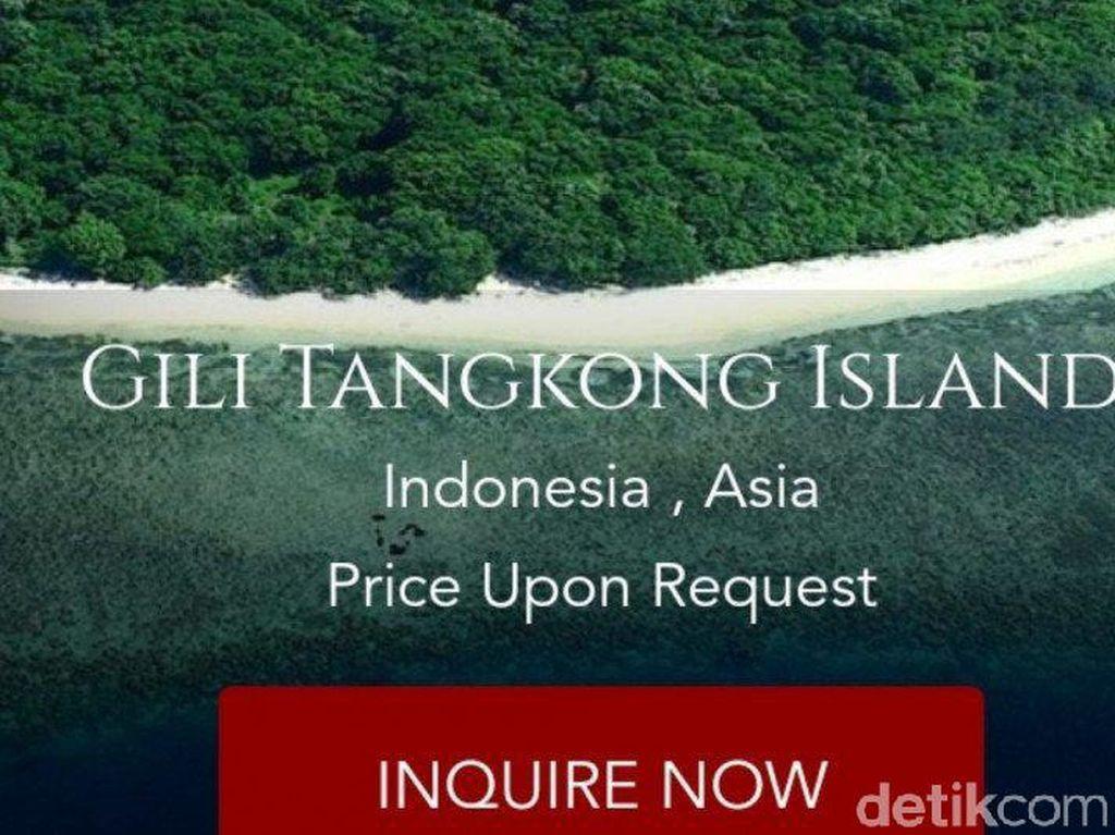 Gili Tangkong Lombok Dijual di Situs Online, Pemprov NTB Turun Tangan