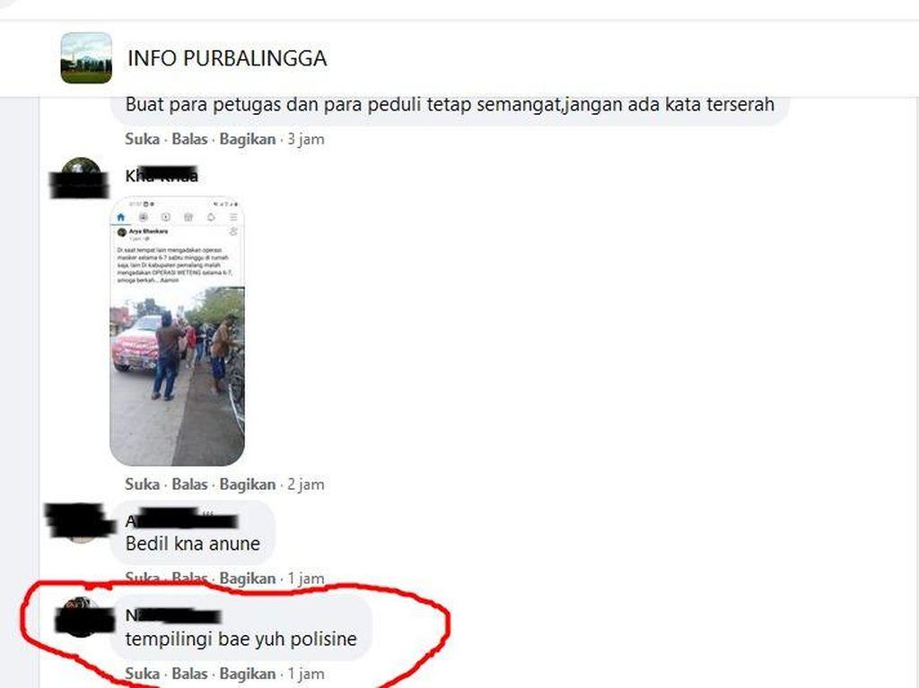 Posting Komentar Ajakan Tempeleng Polisi, ABG di Purbalingga Diperiksa