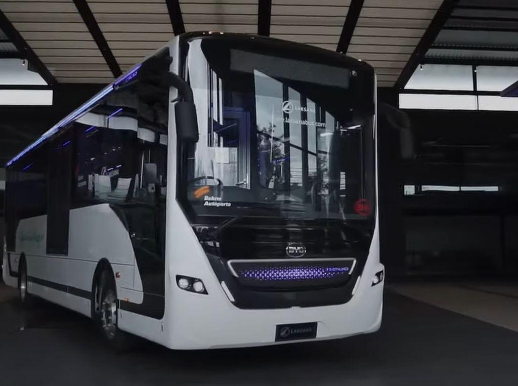 Ini Bus Listrik Pertama Buatan Laksana, Bakal Jadi Armada Transjakarta?