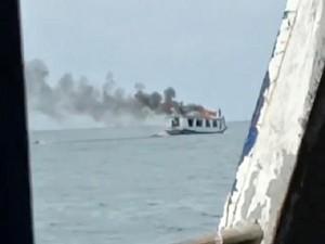 Kapal Penumpang Terbakar di Laut Makassar, Tak Ada Korban Jiwa