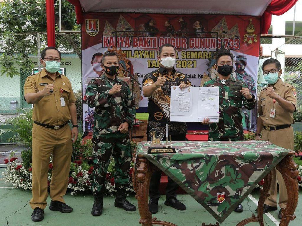 Walkot Semarang Apresiasi TNI Bantu Pembangunan Kota