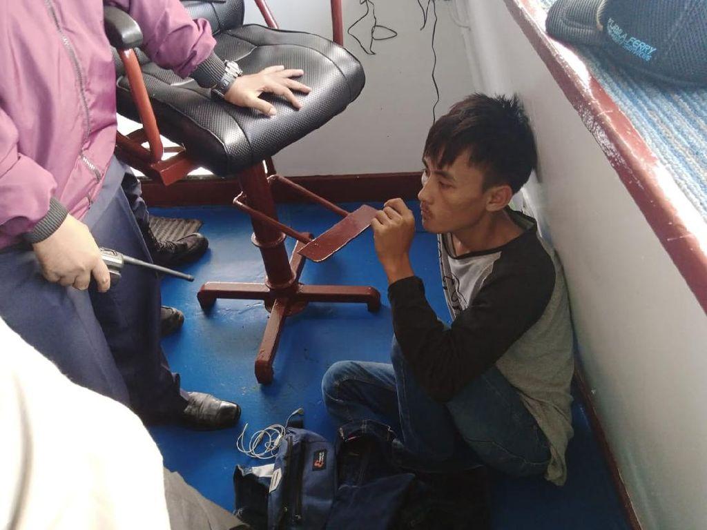 Congkel Truk, Maling di Atas Kapal Feri Ditangkap di Merak