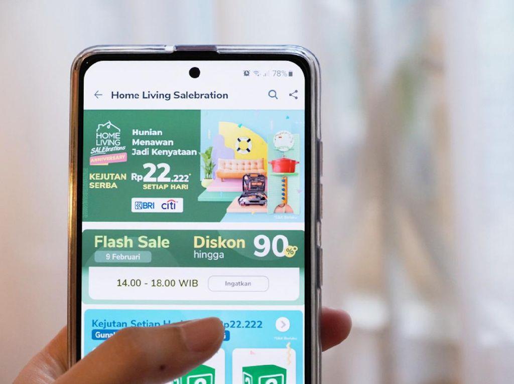 Tokopedia Gelar Diskon Flash Sale Perabotan Rumah Tangga hingga 90%