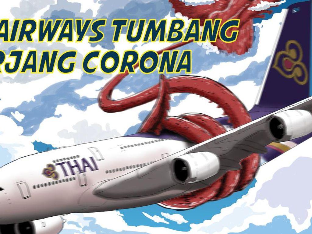 Thai Airways Tumbang Diterjang Corona