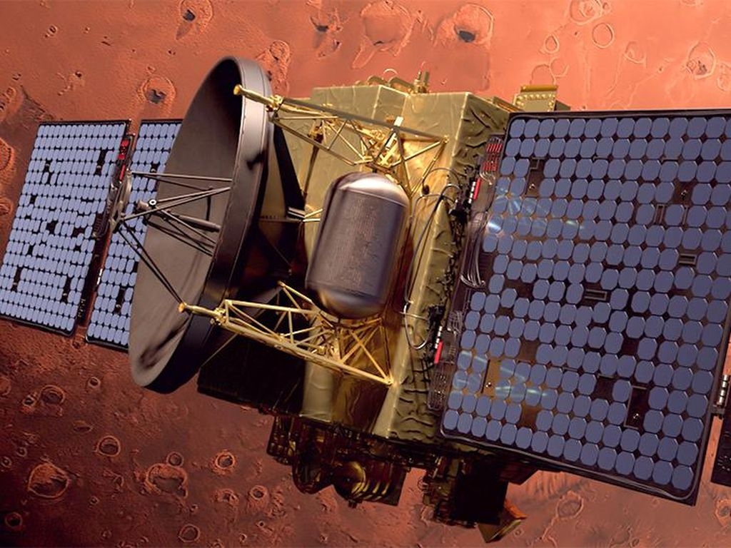 Momen Wahana Uni Emirat Arab Mengorbit di Mars, Ungguli AS dan China