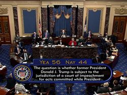 Voting Senat AS Tetapkan Sidang Pemakzulan Trump Konstitusional