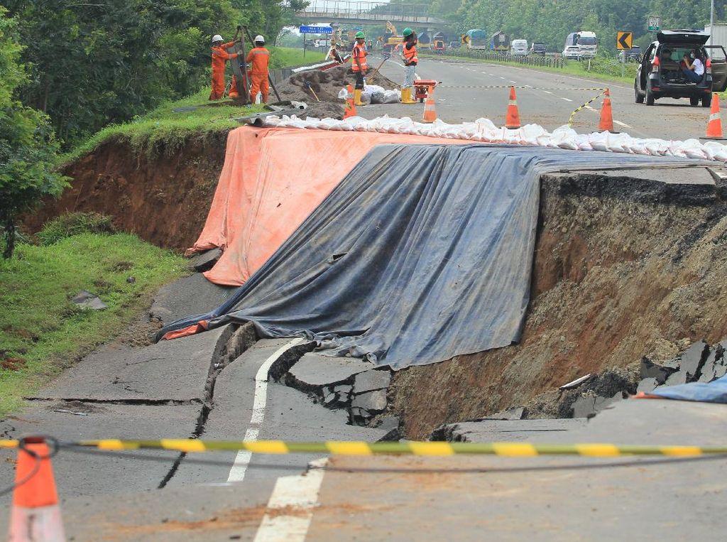 Tol Cipali Ambles, Jalur Darurat Mulai Dibangun