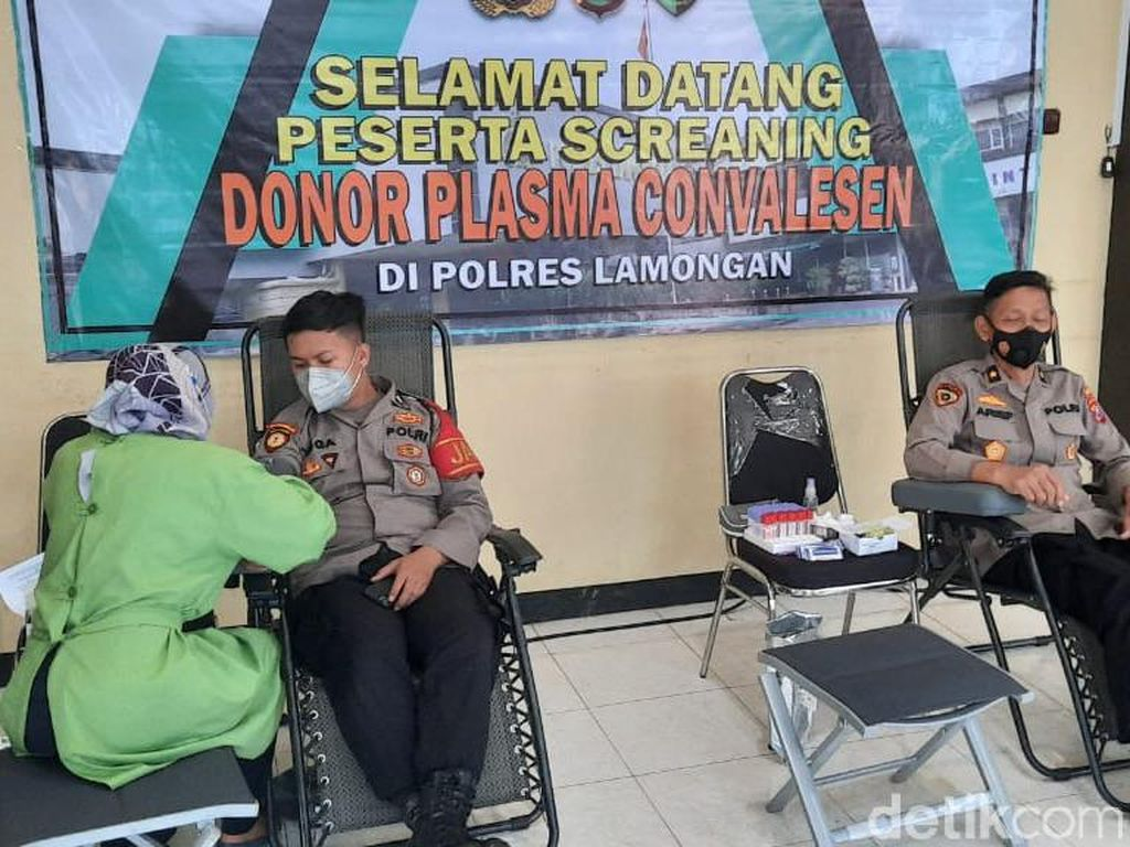 15 Personel Polres Lamongan Screening Donor Plasma Konvaselen