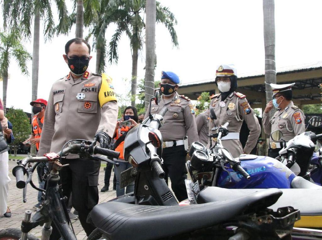 Razia Balap Liar di Nganjuk, 46 Motor Diamankan