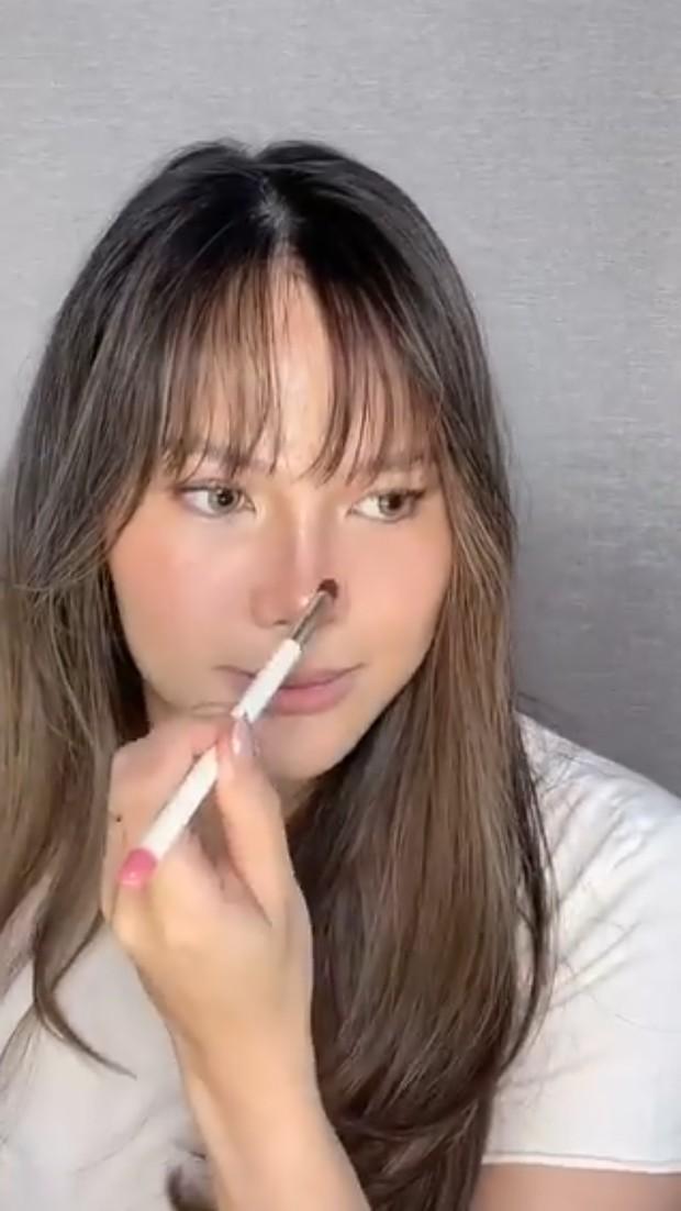 Vinna Gracia memberi pembatas shade di bagian batang hidung/instagram.com/vinnagracia