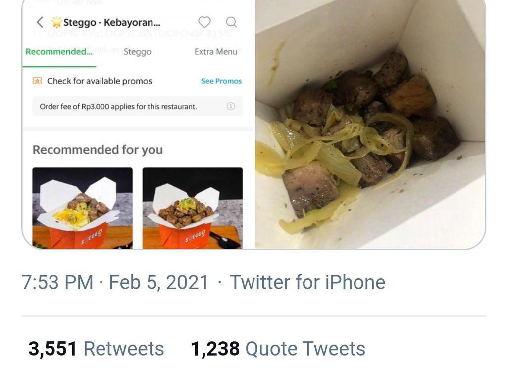 Zonk Beli Daging Panggang Via Ojol, Pria Ini Balas Dendam Pesan 3 Porsi Sate Madura