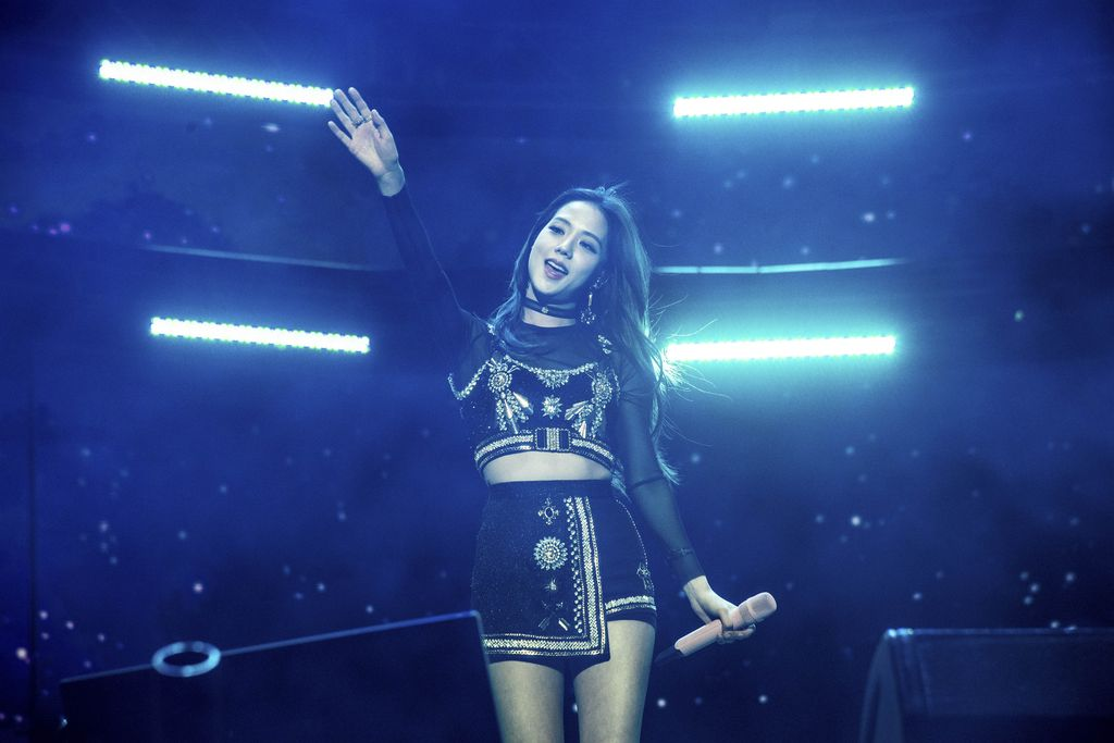 Jisoo of BLACKPINK performs at the Coachella Music & Arts Festival at the Empire Polo Club on Friday, April 12, 2019, in Indio, Calif. (Photo by Amy Harris/Invision/AP)