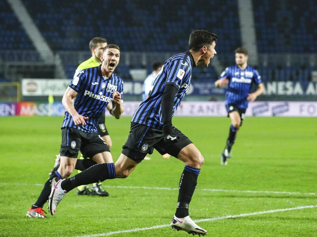 Atalanta ke Final Coppa Italia Usai Tumbangkan Napoli 3-1