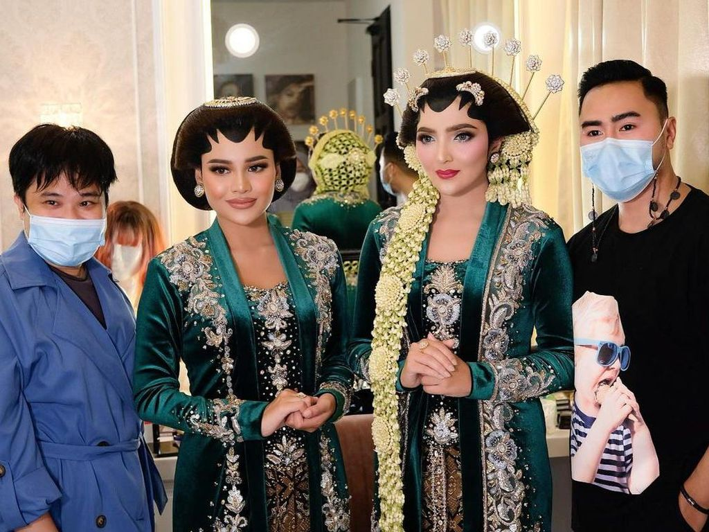 Foto Kecantikan Ashanty Jadi Pengantin Jawa, Didampingi Calon Manten Aurel