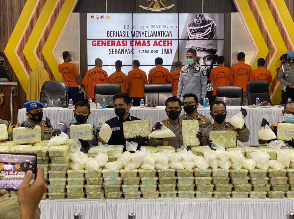 Polri Ungkap Penyelundupan 353 Kg Sabu dari Malaysia, Dikendalikan Napi di Aceh