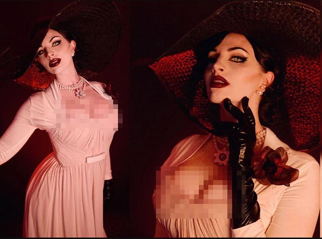 10 Cosplay Vampir Seksi Lady Dimitrescu dari Resident Evil Village