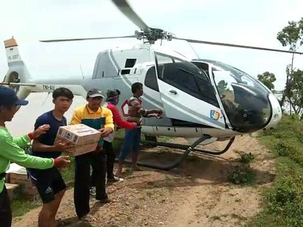 Helikopter Dikerahkan Bawa Logistik Untuk Korban Banjir di Subang