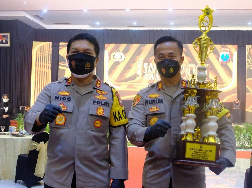 Kapolda Jatim Award 2021, Polres Tuban Sabet Penghargaan Terbanyak