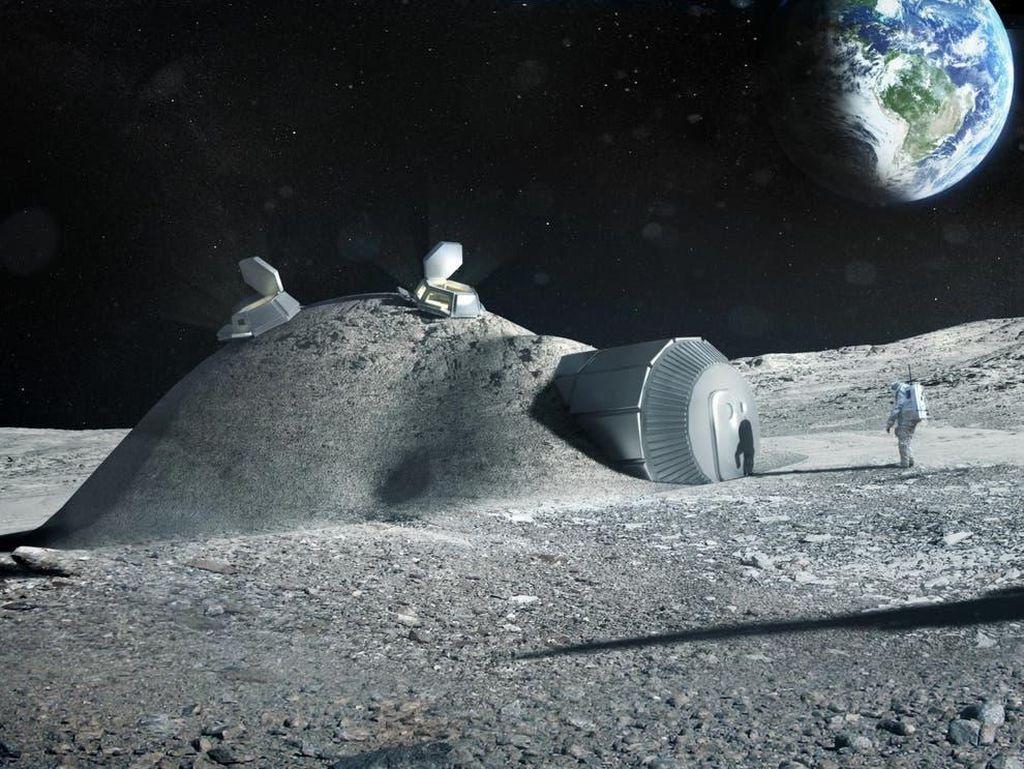 Militer AS Ingin Bangun Pabrik Besar di Bulan