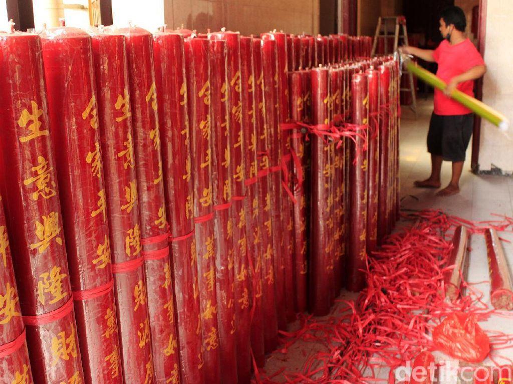 Tahun Baru Imlek 2021 Tanpa Barongsai di Vihara Dharma Ramsi Bandung