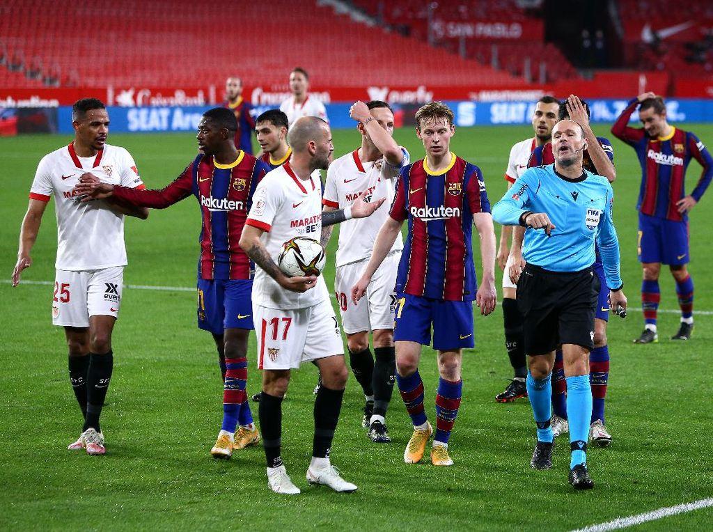 Barcelona Kalah Lawan Sevilla, Gak Dapat Penalti Pula