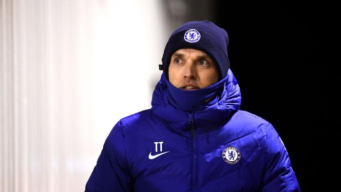BARNSLEY, ENGLAND - FEBRUARY 11: Manager of Chelsea, Thomas Tuchel makes his way out for the second half during The Emirates FA Cup Fifth Round match between Barnsley and Chelsea at Oakwell Stadium on February 11, 2021 in Barnsley, England. Sporting stadiums around the UK remain under strict restrictions due to the Coronavirus Pandemic as Government social distancing laws prohibit fans inside venues resulting in games being played behind closed doors. (Photo by Laurence Griffiths/Getty Images)
