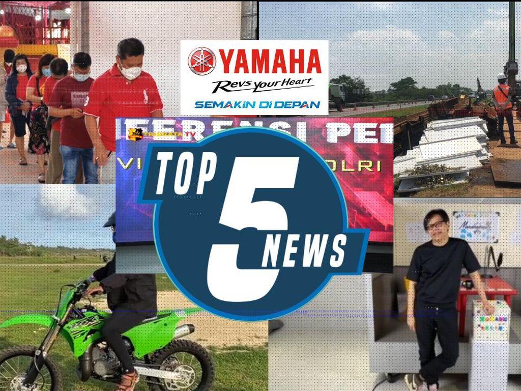 Top 5: Imlek di Tengah Pandemi, Susi Geber Motor Trail