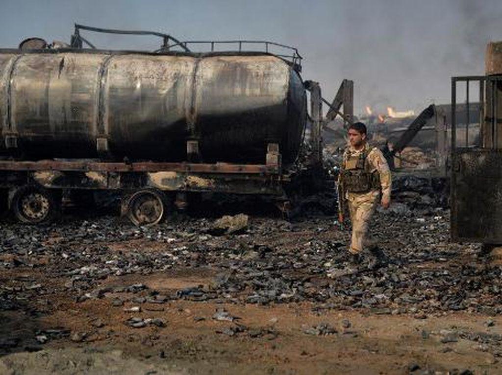 Penyebab Meledaknya 100 Tangki BBM di Perbatasan Afghanistan-Iran Diselidiki
