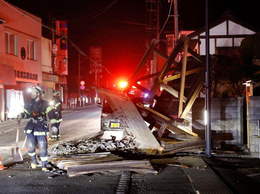 Penampakan Fukushima Jepang Usai Diguncang Gempa M 7,1