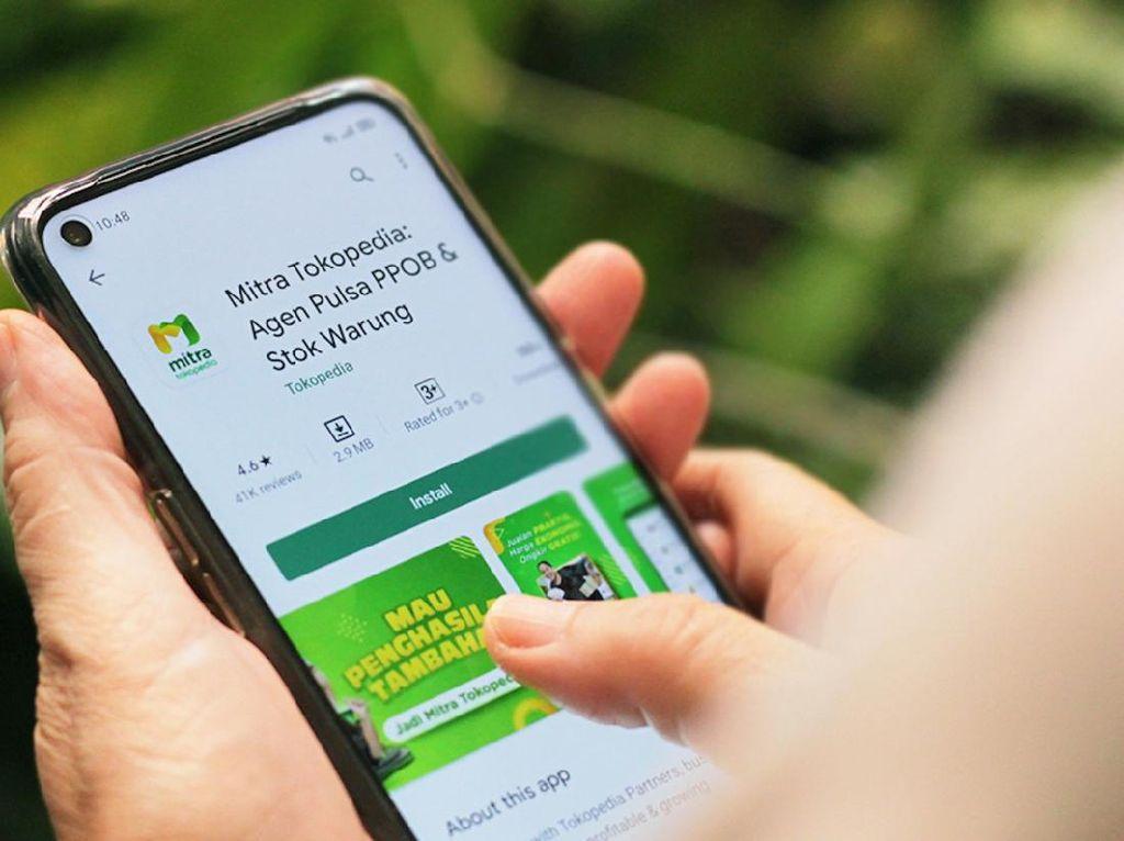 Pengguna Aplikasi Mitra Tokopedia Catatkan Untung 2 Kali Lipat