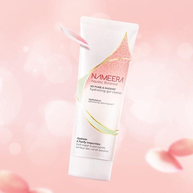 Nameera So Pure & Radiant Hydrating Gel Cleanser efektif membersihkan dan membuat wajah lebih cerah/instagram.com/nameeraid